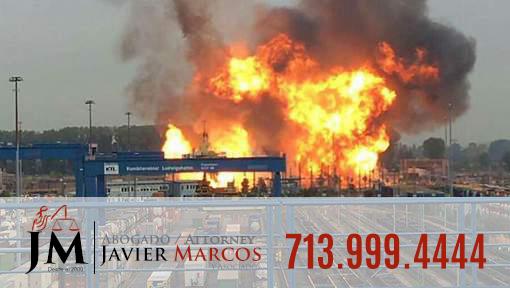 Explosion en el trabajo? Llame al Abogado Javier Marcos 713.999.4444