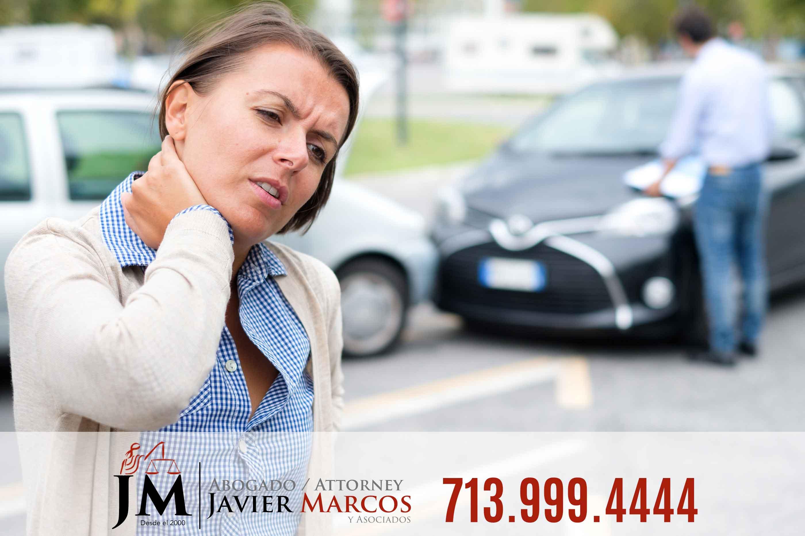 Dolor despues de accidente de carro | Abogado Javier Marcos