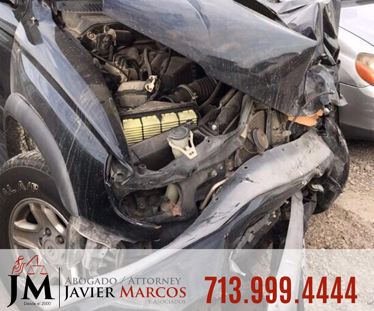 Reclamo por accidente de auto   Abogado Javier Marcos   713.999.4444