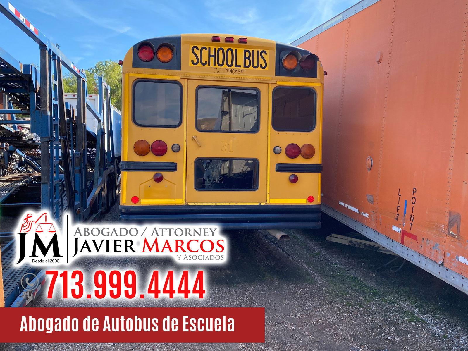 Abogado de Autobus de Escuela | Abogado Javier Marcos | 713.999.4444
